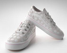 3D Toddler Polka Dot Skool Zip Shoes