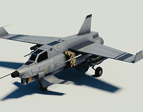 Fictional Light Attack Aircraft Piranha 3D model
