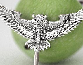 3D print model Fighting eagle owl