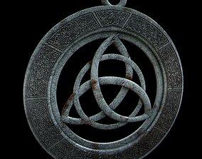 Viking triquetra pendant 3D print model