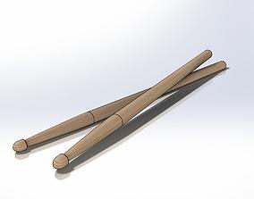 Drum Sticks Model 2B 3D