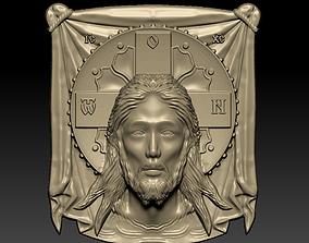 Jesus head 3D printable model decor