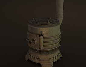 3D asset Old Japanese Stove