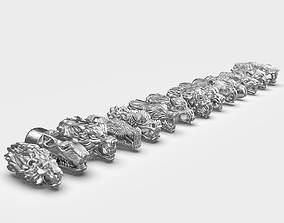 End pieces for bracelets 2 and 3 3D print model