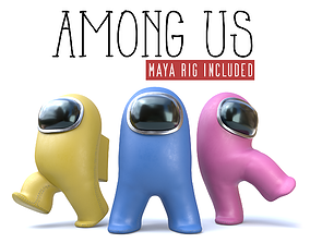 3D asset Among us characters - Maya rig included