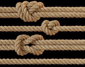 Rope knots 3D model loop