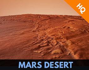 Mars Desert Terrain Landscape Mars Planet Dunes 3D model