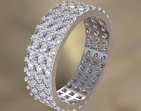 Engagement ring 3D printable model bride