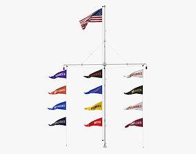 Stadium Flagpole 3D model