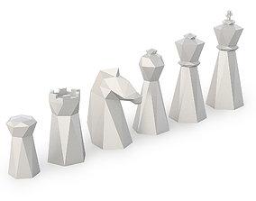 Low Poly Chess Set 3D printable model