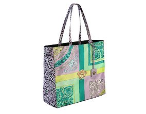 3D model Versace Bag Mixed Print Tote Pink