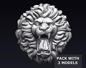 3D printable model Roaring Lion Head pendant
