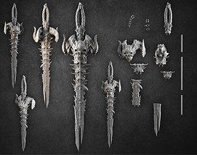 demonic sword 3D print model creature