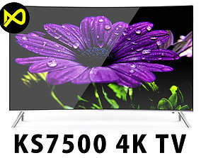 Samsung KS7500 SUHD 4K TV Curved Series 65 inch 3D model