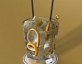 Vodka Cocktail Glass 3D