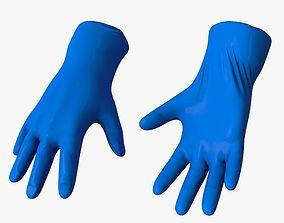 Medical Gloves 3D model low-poly