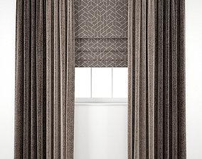 Curtain 98 herringbone 3D model
