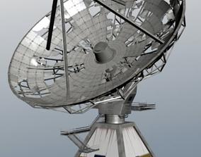 damaged satellite 3D asset