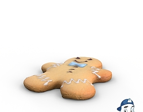 3D model PBR Gingerbread Man