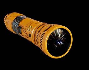 Turbine 3D model low-poly