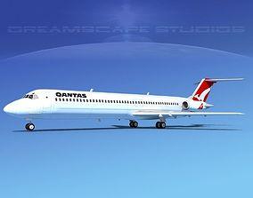 3D Douglas DC-9-50 Qantas