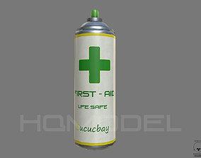 First Aid Spray Health PBR 3D model