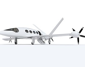 3D model Electric Aircraft Alice Eviation with Interior