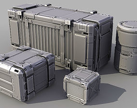 Sci-Fi Containers 3D