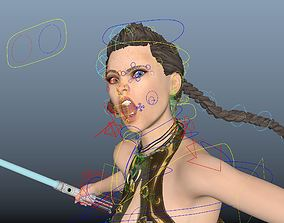 3D model jedi knight girl