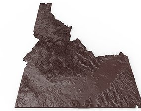 Idaho Relief Map 3D printable model