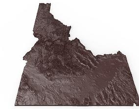 Idaho Relief Map 3D printable model