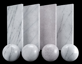 White Carrara 02 Marble Texture PBR Vray Corona 3D asset 3