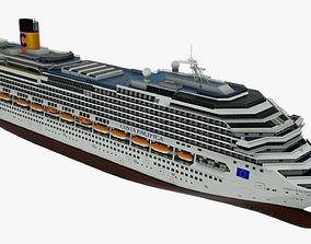 3D model Cruise ship Costa Pacifica