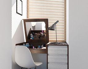 3D model Bedroom vanity furniture