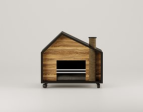 Cat House cage 3D model rigged