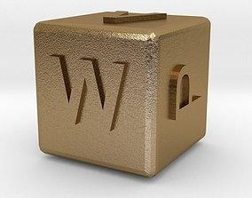 Dice120-alphabet 3D print model