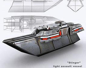 3DRT - Sci-Fi Naval Vessel - Slasher low-poly