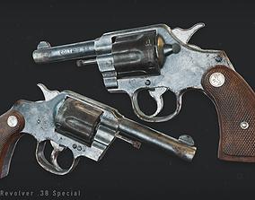 3D asset Colt Police Revolver