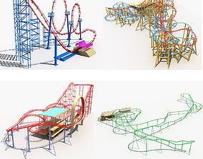 3D Collection of Roller Coaster