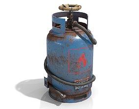 Welding Torch Gas Cylinder 3D asset