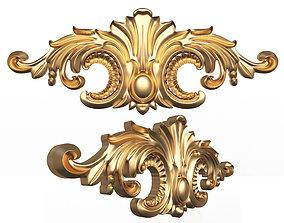 Carved Plaster Molding Decoration 3D asset