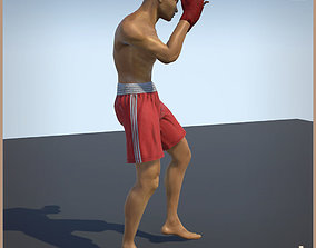 Thai Boxer Unity And Unreal Animation Collection 3D model