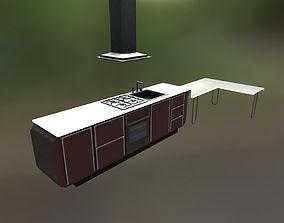 3D model VR / AR ready Kitchen