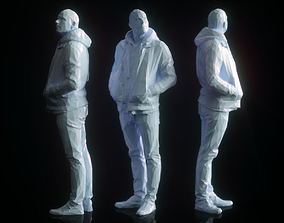 Casual Male Low Poly 3D asset low-poly