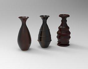 3D printable model Simple Pots using Lathe Modifier