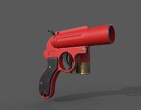 Flare gun 3D model low-poly