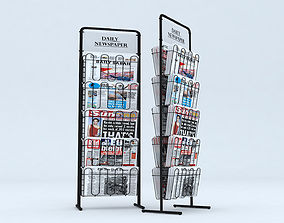 Newspaper - Magazine Stand 3D model low-poly