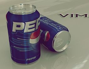 3D asset Pepsi Soft Drink Can