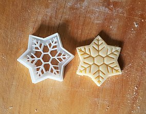 Snowflake cookie cutter gingerbread 3D print model