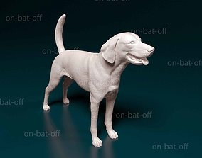 American foxhound 3D print model hunting